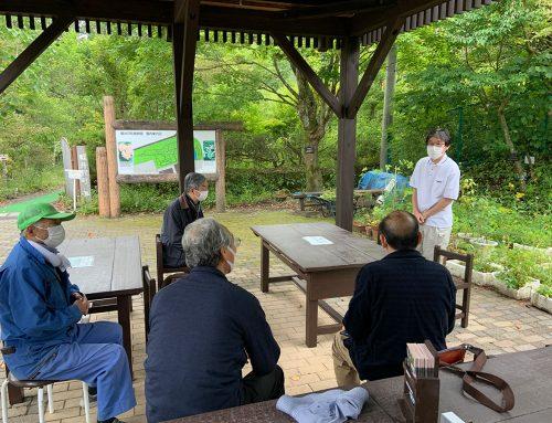 軽井沢植物園で植栽についてのご助言を頂く